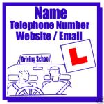 DRIVING SCHOOL INSTRUCTOR MAGNETIC SIGN CAR VAN 1 PAIR